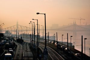 misty morning in Budapest I by torobala