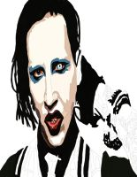Marilyn Manson Pen work 3 by daylover1313