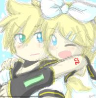 Kagamine Twins by andreahedgehog