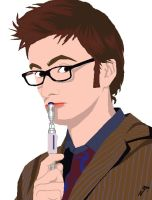 David Tennant is the Doctor by Naomeart