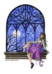 Moonlit window by nelchee