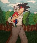 Commission: Bardock and Clarice by Doggy-Yasha
