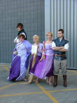 MCM Expo: Tangled group by LabyrinthLadyLover