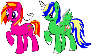 Pony adoptables 1and2 CLOSED! by BoykinWolf