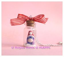 FIMO Ih-oh in a jar Necklace bottle by MagicoMondoDiPLOPPI