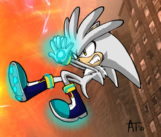 Silver the hedgehog by flindsey09