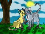 Squirrelstar and Jayfeather by XGirlDeathX