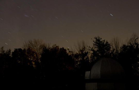 Observatory with star trails by AmblingPhotographer