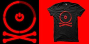 Red ring Jolly rodger by biotwist
