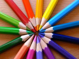 Pencil Rainbow by SilverSoul1496