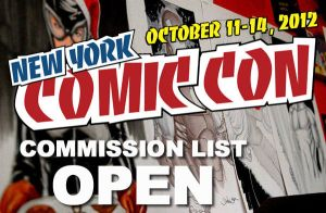 NYCC 2012 Commission List OPEN by danielhdr