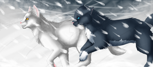 Race through the snow by Calaeren