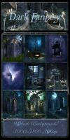 Dark Fantasy backgrounds by moonchild-ljilja