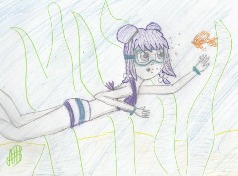 Ran goes swimming!! Contest entry by allieantic