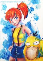 Misty and her Lovable Sidekick by progressinprogress