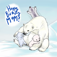Mom's Birthday Polar Bears by Zerochan923600