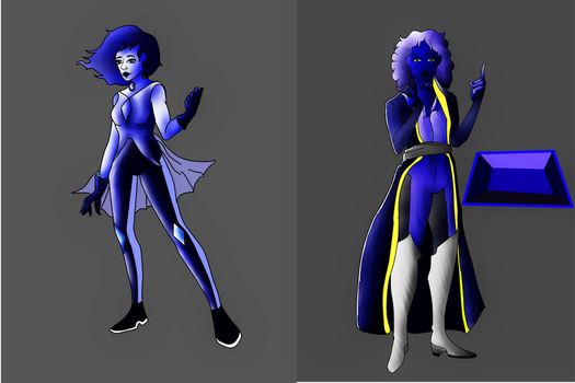Night Blue Pearl Redesign and Tanzanite Design by KemaTeller