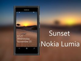 Sunset Nokia Lumia WP7 Wallpaper by biggzyn80