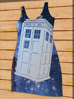 TARDIS in Space Dress by Enlightenup23