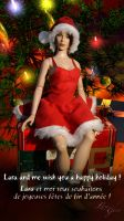 Lara Christmas outfit : Red dress by Laragwen