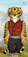 Master Tigress - Try 1 + Color by Marzzel
