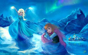 Anna and Elsa - Frozen by DreamyArtistRoxy3
