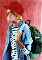 Backpack Girl by MannHau