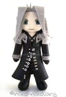 FF7AC+CC - Sephiroth plush by momoiro-machiko