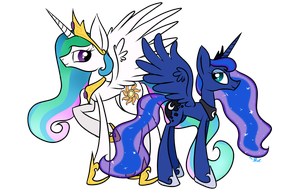 The Celestial Sisters by Winter-Hooves
