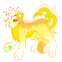 [Closed] Guest Pineapple Cherry Delight Dog/Wolf by SquiggleCakes