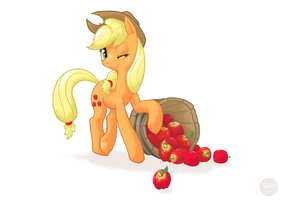 Barrel Fulla Apples by sofas-and-quills