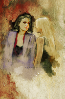 Swan Queen on Painting. by ohnaevia