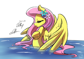 [Lumic4]-Light-Fluttershy bath by Light262