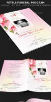 Petals Funeral Program Template by Godserv