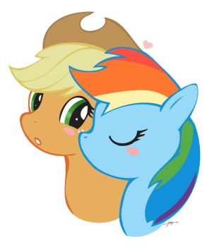 Apple kiss by CorruptionSolid