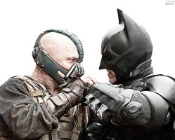 Bane Vs. Batman by timdallinger