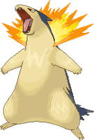 Typhlosion Pixel-Over by Kazyx