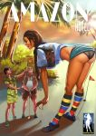 Mini Giantess Golf Caddy - Amazon Hotel 3 by giantess-fan-comics