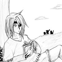 Senri and his Book by Shyrstyne