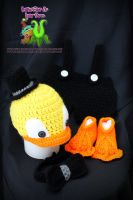 Crochet Rubber Duckie Complete set by LittleShopOfLostArts