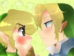 Toon Link and Link by madlinkplz