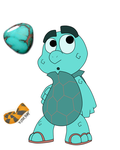 Tory The Turquoise Turtle by TheOctoberScarf