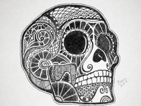 Tribal Skull by Camolady