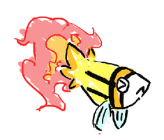 Fire fish starter doodle by tk36477