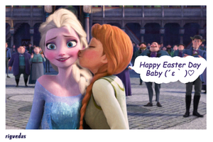 Elsanna - The Easter Day Kiss by rigvedas
