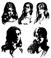 black marker portraits by N647