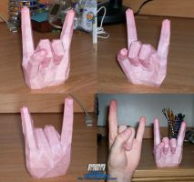 Rock-On Hand Pose Assembled by billybob884