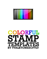 Colorful Stamp Templates by ttalktomesoftly
