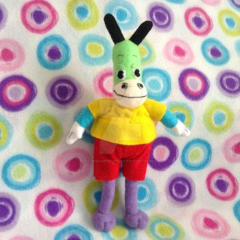 (Fat Skids) Toontown Horse Plushie (original) by MadameWario