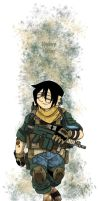 Avatar: Modern Warfare -Toph by MoeAlmighty